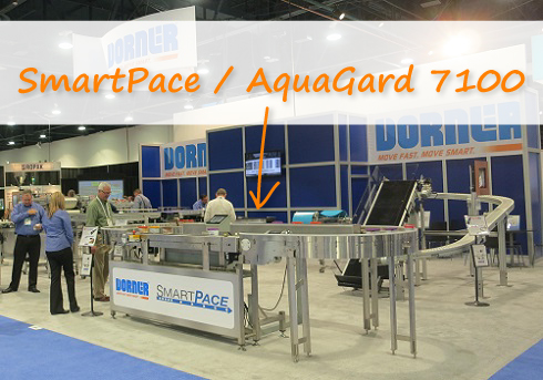 SmartPace and AquaGard 7100 conveyors on display at expo